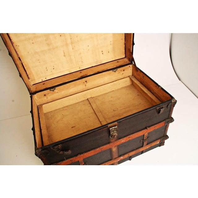 Antique Wood Steamer Trunk - Image 8 of 11