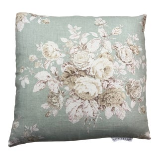 "Shabby Chic Down /Feather Pillow in Ralph Lauren Wainscott Floral - 20"" X 20"" For Sale"