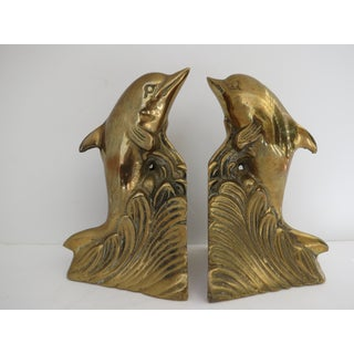 Brass Dolphin Bookends Preview