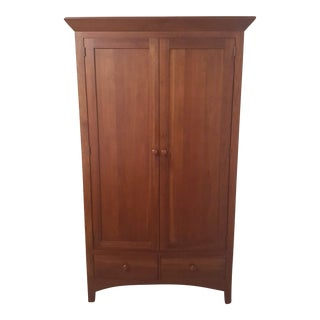Ethan Allen American Impressions Solid Cherry Armoire For Sale