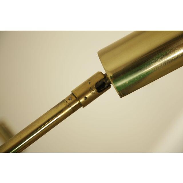 Koch & Lowy OMI Vintage Brass Pair Swing Arm Floor Lamps For Sale - Image 11 of 12