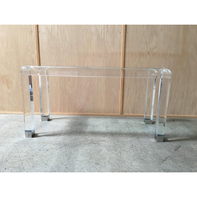 20th Century Lucite Console Table For Sale - Image 13 of 13