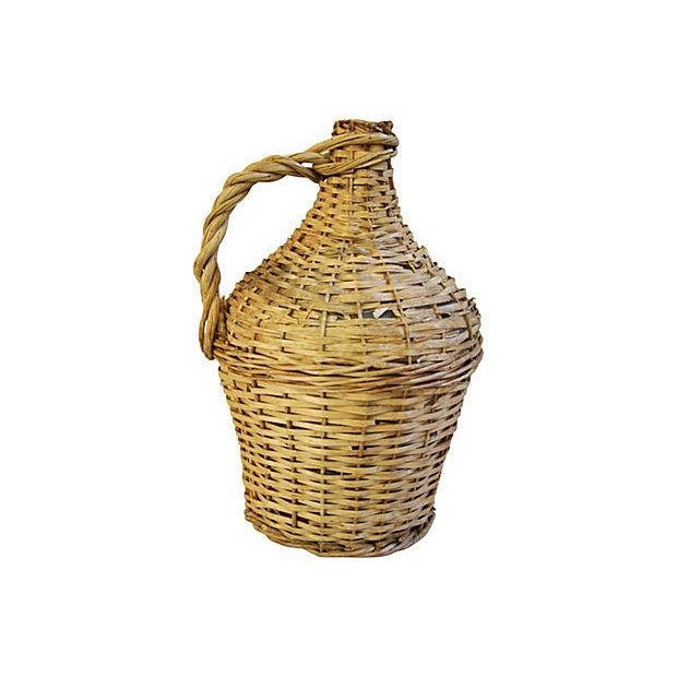 French Wicker Demijohn Bottle - Image 5 of 5