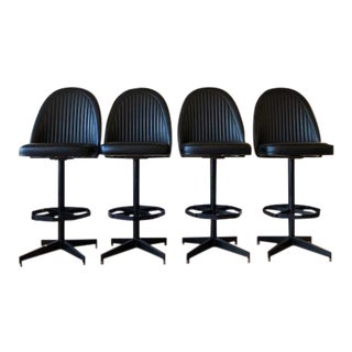 Industrial Modern Swivel Counter Stools by Cal-Style- Set of 4 For Sale