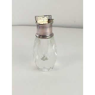 Vintage Cut Crystal & Silver Table Lighter Preview