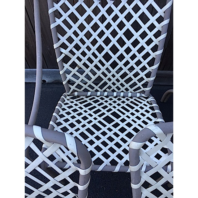 Vintage Brown Jordan Patio Chairs - Set of 5 For Sale - Image 5 of 8