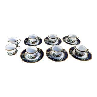 Vintage Bernardaud Limoges Metropoles Cups and Plates - Set of 14 For Sale