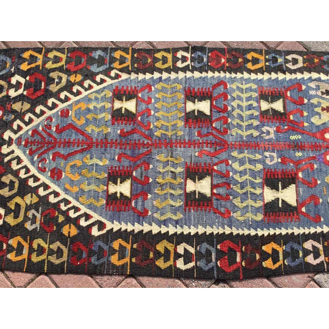 Moroccan Vintage Turkish Kilim Rug For Sale - Image 3 of 9