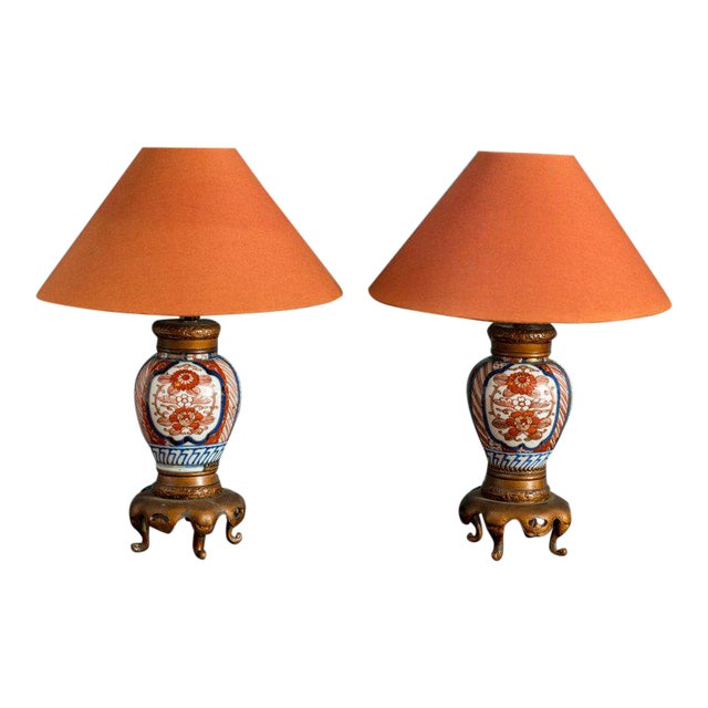 Pair of Chinese Export Vase Lamps For Sale