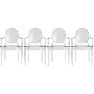 Philippe Starck Ghost Chairs - Set of 4 For Sale