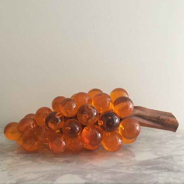 Country Oversized Orange Lucite Grapes For Sale - Image 3 of 6