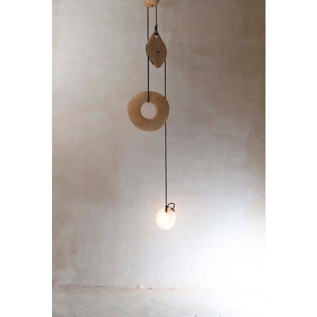 "Contemporary Jérôme Pereira, ""Poulie"" Sculpted Lighting For Sale - Image 3 of 5"