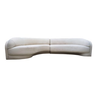 1980s Vintage Contemporary Modern Vladimir Kagan for Preview Curved Sectional Sofa For Sale