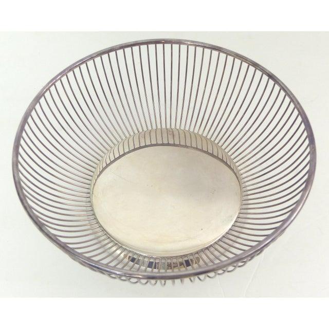 Gorham Wire Silver Plate Bread Basket | Chairish