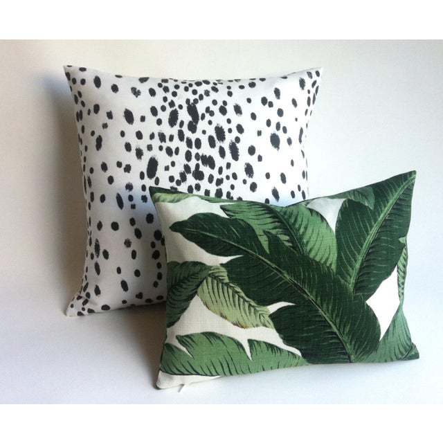 Les Touches Style Linen Charcoal Dotted Pillow/Cushion Cover - Image 5 of 5