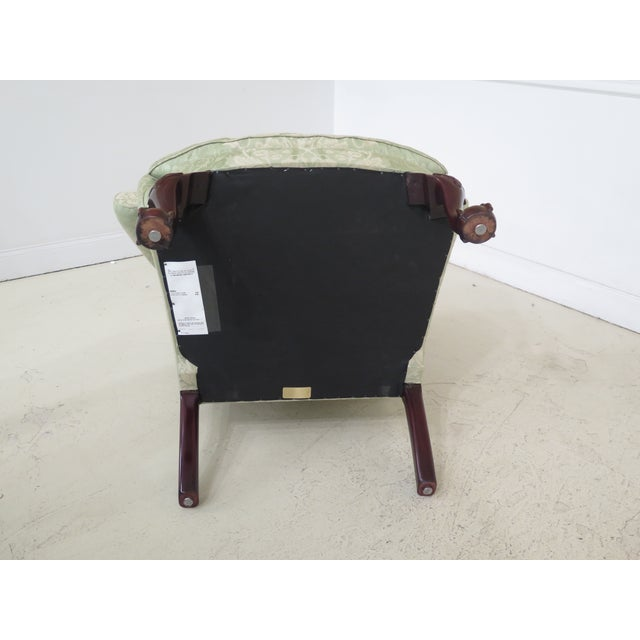 Late 19th Century Kindel #412 Philadelphia Claw Foot Winterthur Wing Chair For Sale - Image 10 of 13