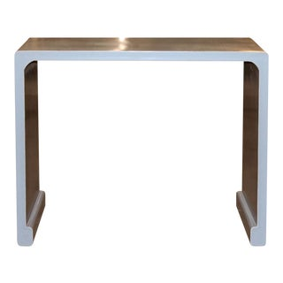Gray Waterfall Console Table For Sale