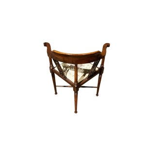 1900s Vintage Brandt Wood Inlay Accent Chair Preview