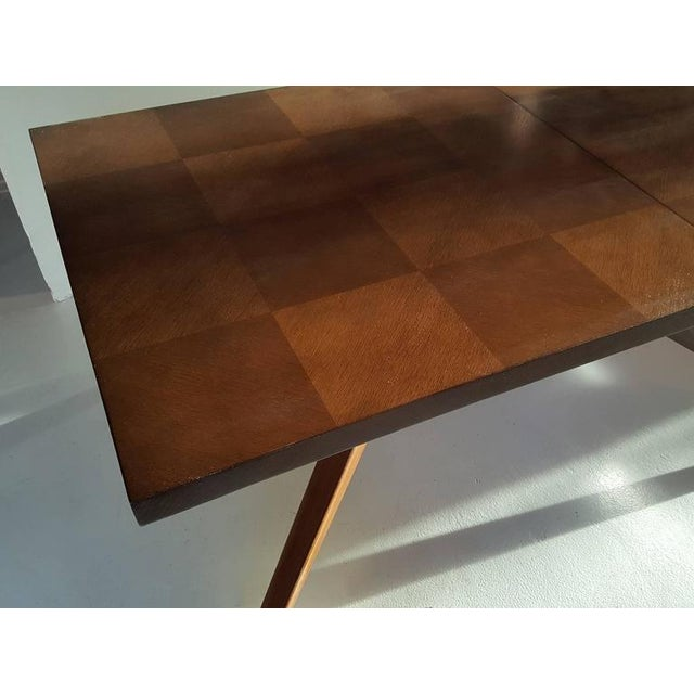 Brown Faceted Romweber Dining Table by Harold Schwartz For Sale - Image 8 of 8