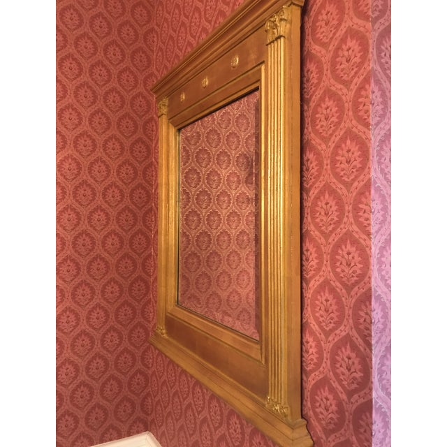 Late 20th Century Burnished Gold Gilt Wood Beveled Mirror For Sale - Image 5 of 10