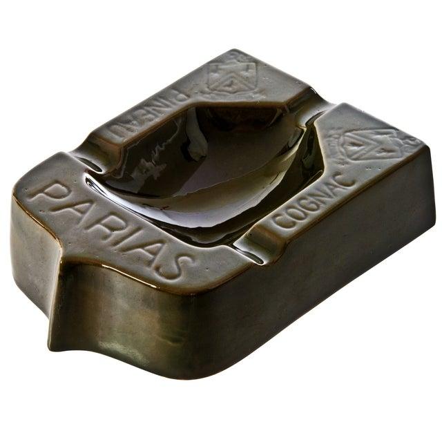 French Parias Glazed Terra Cotta Ashtray - Image 2 of 3