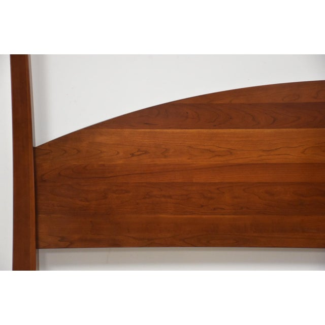 Modern Ethan Allen American Impressions Solid Cherry King Bed For Sale - Image 3 of 10