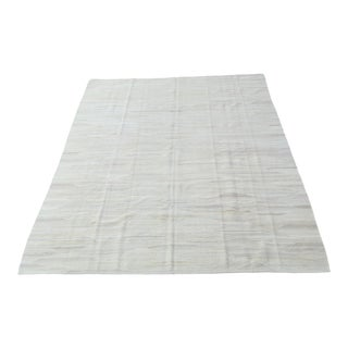 Woven Kilim Wool Rug For Sale