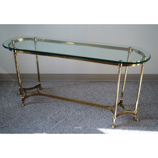 1960s La Barge-Style Brass Console - Image 5 of 7