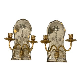 1920s Caldwell Mirrored Sconces - a Pair For Sale