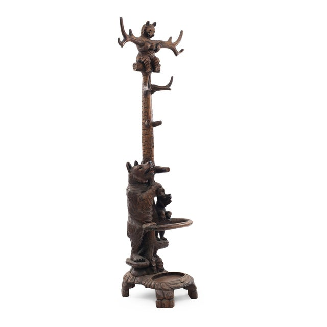 Rustic Black Forest Style '20th Century' Hatrack/Umbrella Stand For Sale - Image 9 of 9