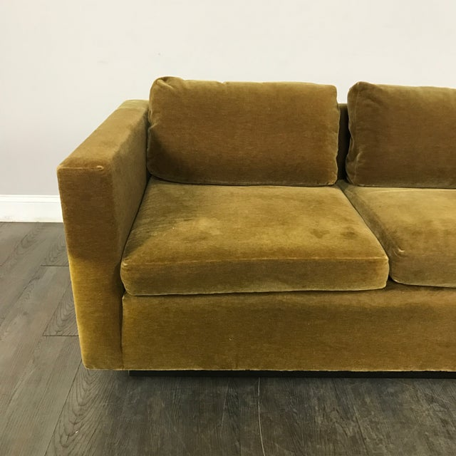 Vintage Gold Mohair Sofa - Image 3 of 11