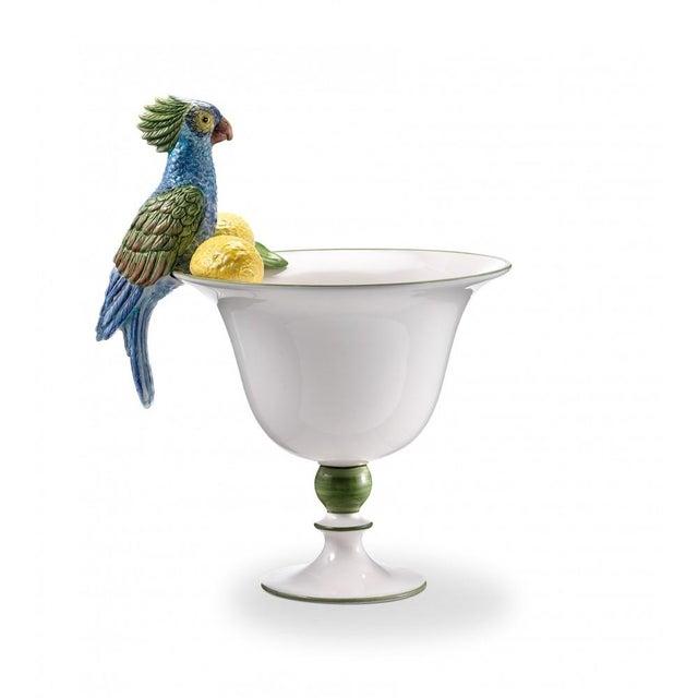 2020s Italian Ceramic Parrot Vase For Sale - Image 5 of 5