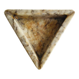 Vintage Stone Triangle Ashtray For Sale