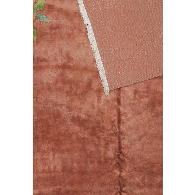 Art Deco Orange Chinese Art Deco Rug For Sale - Image 3 of 6