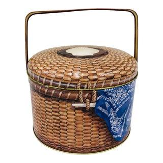 Vintage Tin Nantucket Basket For Sale