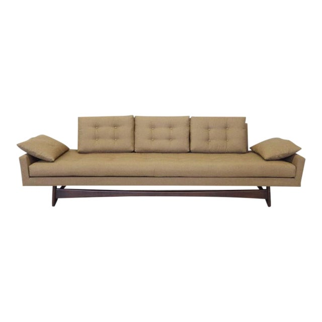 Adrian Pearsall Craft Associates Large Gondola Sofa For Sale