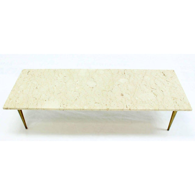 Mid-Century Modern Marble Coffee Table For Sale - Image 4 of 8