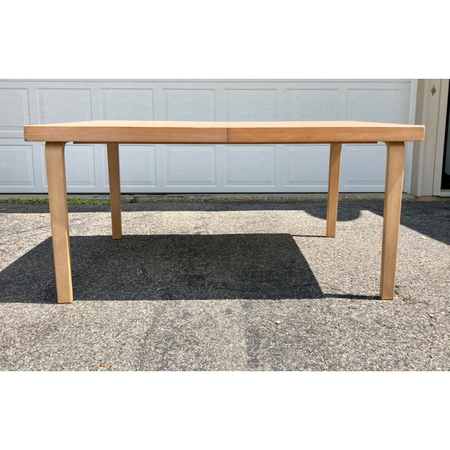 Mid Century 1940s Finnish Birch Extention Dining Table by Alvar Aalto for Artek For Sale - Image 13 of 13