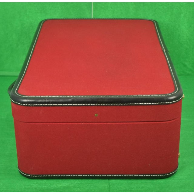 1960s 1960s Traditional T Anthony Suitcase w/ TWA Label For Sale - Image 5 of 11