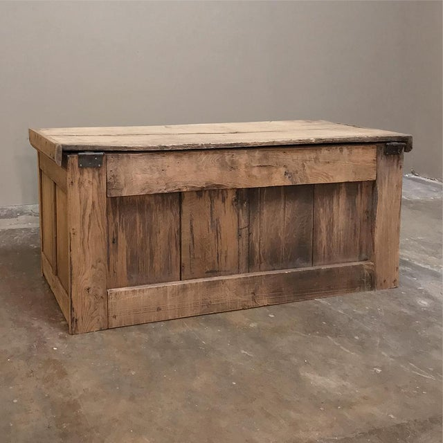 Trunk, 19th Century Rustic Gothic in Stripped Oak For Sale - Image 11 of 12