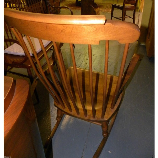 Bent Brothers Antique Maple Rocker For Sale - Image 6 of 6