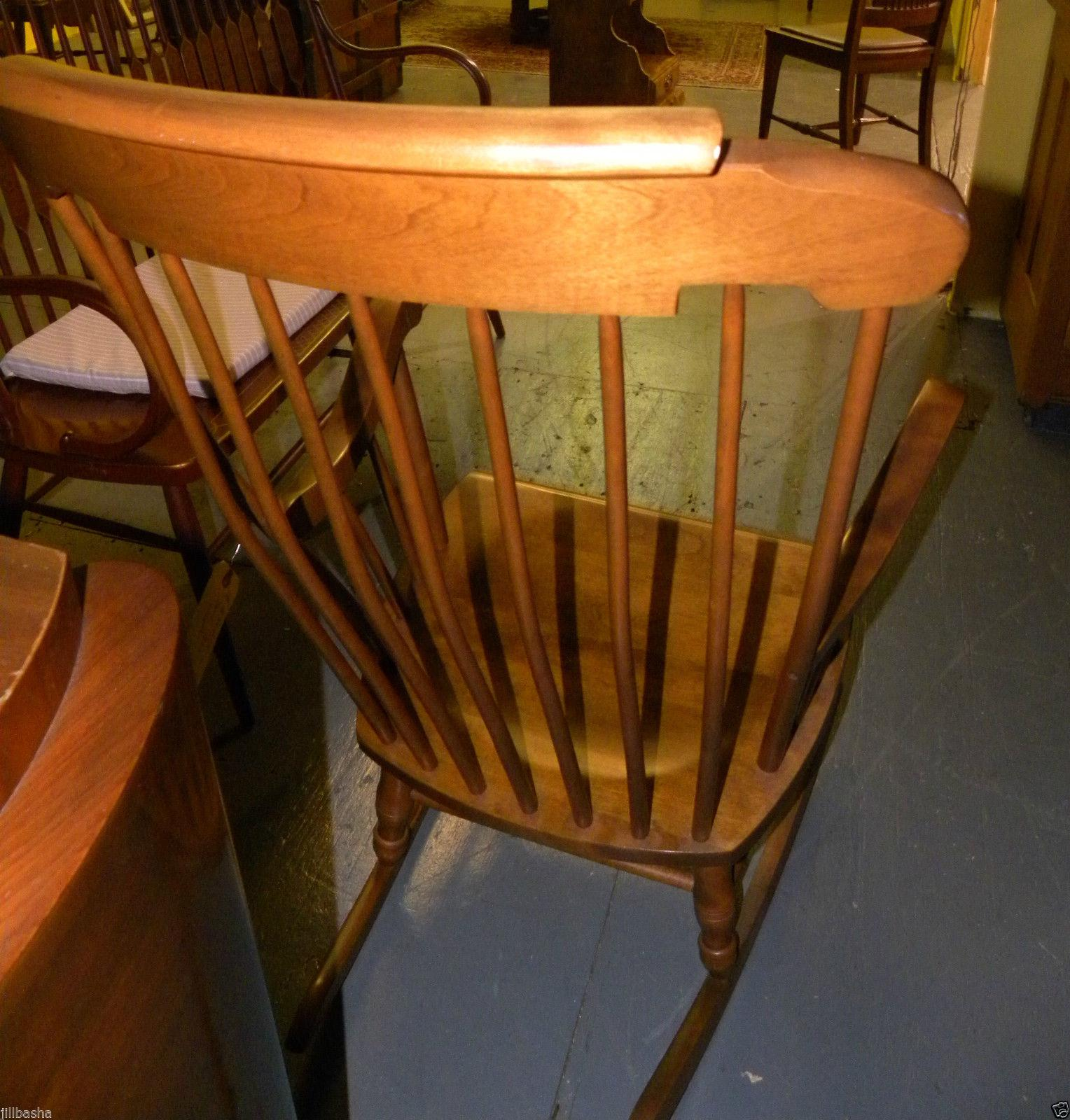 Bent Brothers Antique Maple Rocker For Sale   Image 6 Of 6
