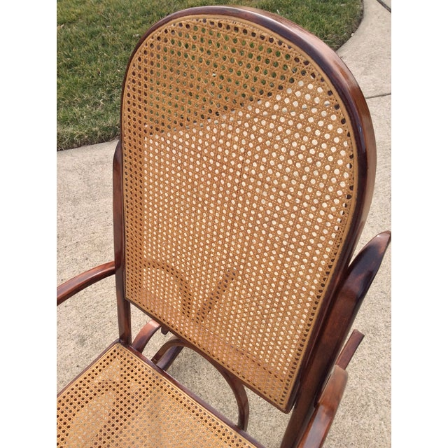 Wood Mid Century Luigi Crassevig Thonet Style Bentwood Rocker For Sale - Image 7 of 12