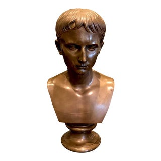 Grand Tour Portrait Bust of Bust of Caesar Augustus, Benedetto Boschetti, Roma For Sale