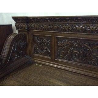 Victorian Carved Oak Bench Manner of Rj Horner Preview