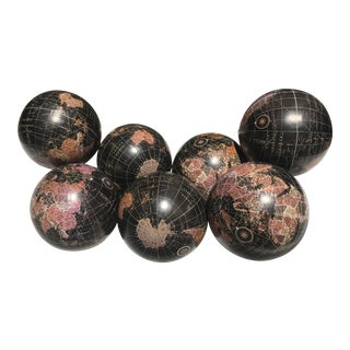 World Deco Spheres - Set of 6 For Sale
