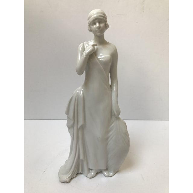 Art Deco Flapper Woman Statue - Image 2 of 8