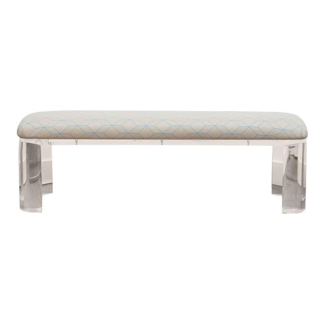 Karl Springer Style Lucite Bench - Image 1 of 8