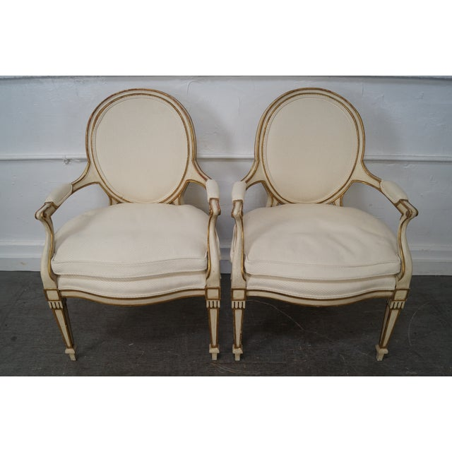 Widdicomb Paint Frame Regency Style Arm Chairs - A Pair - Image 2 of 10