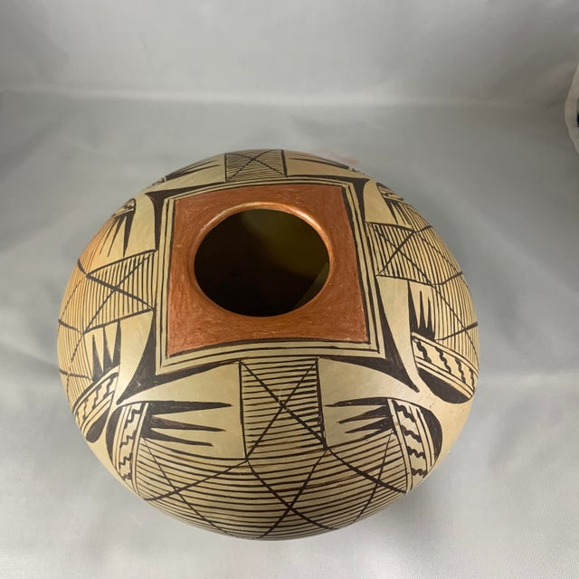 Southwest Hand Painted Migration Seed Jar by Elva Nampeyo For Sale - Image 4 of 13